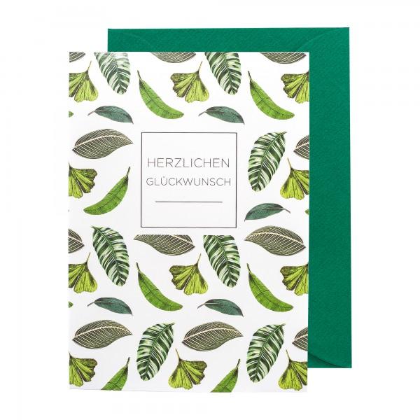 Grußkarte   Herzlichen Glückwunsch   Botanic Bliss