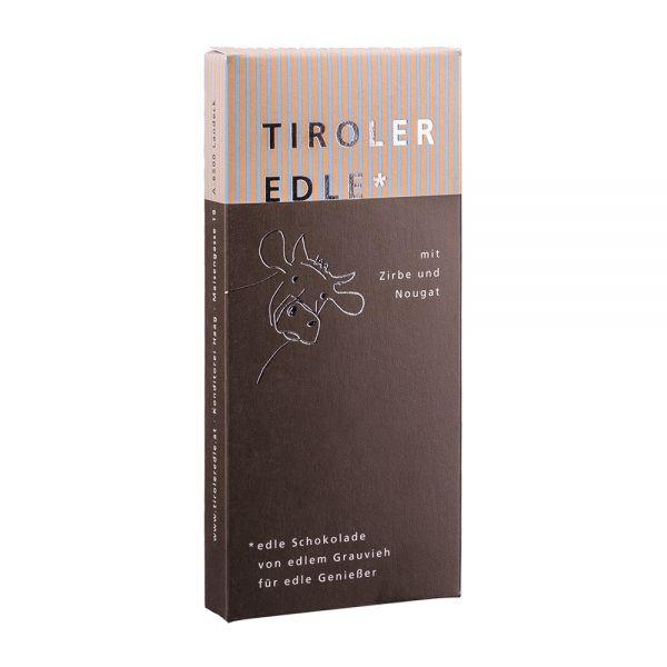 Tiroler Edle | Schokolade mit Zirbe und Nougat