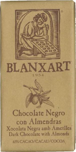 Blanxart Schokolade Zartbitterschokolade mit ganzen Mandeln